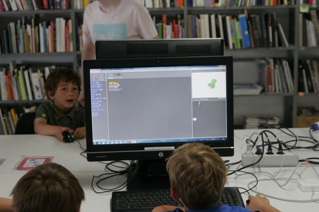 Animation d'une pieuvre avec Scratch.